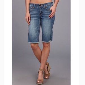 Lucky Brand Abbey Bermuda Frayed Jean Shorts 2/26